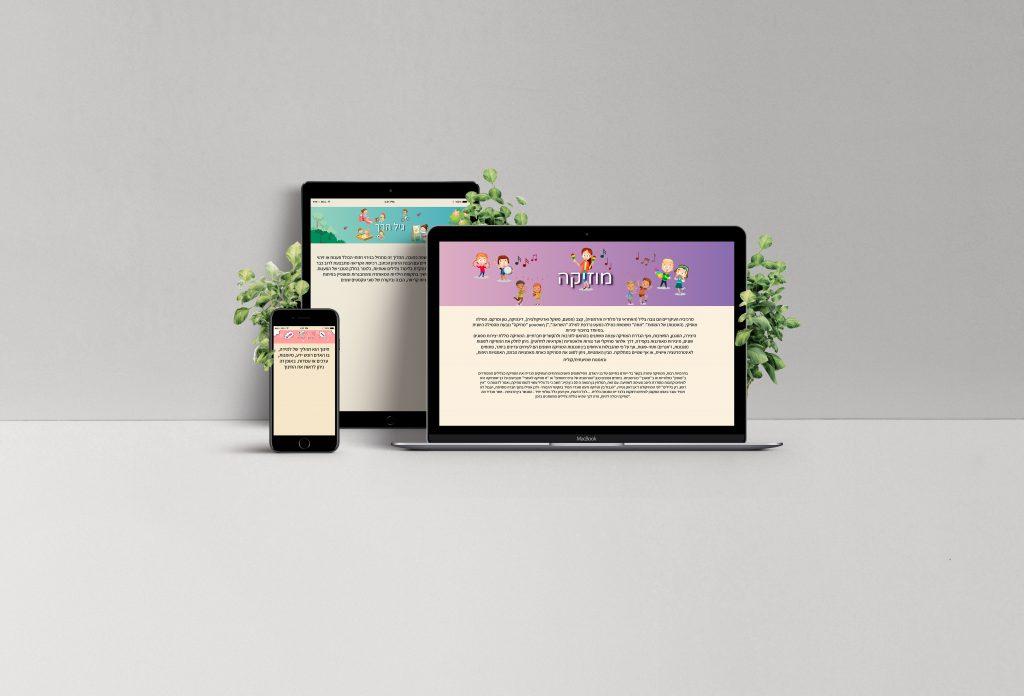 הדמיה אתר- עמותת חינוך מיוחד