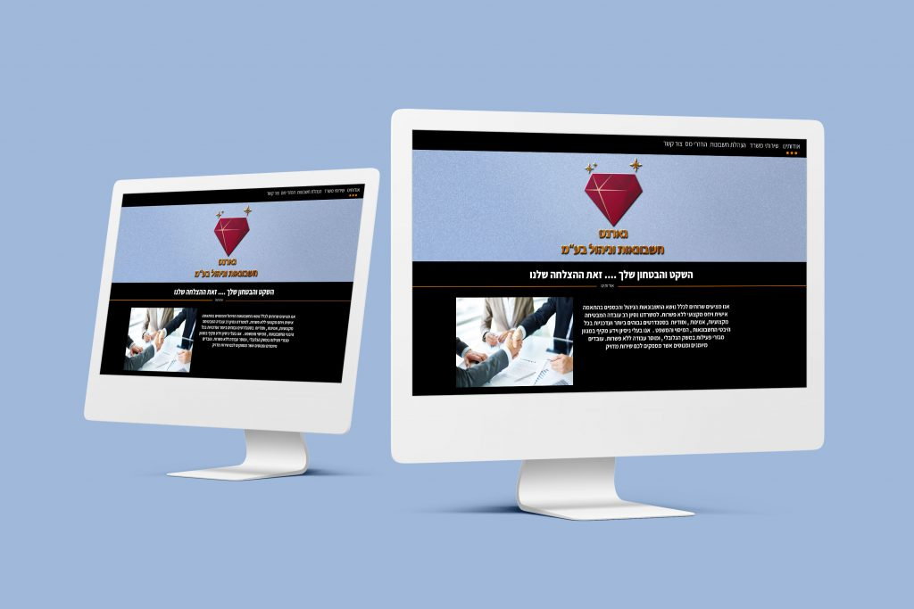 הדמיה לאתר עיצוב אתר להנהלת חשבונות סטודיו מגה דזיין