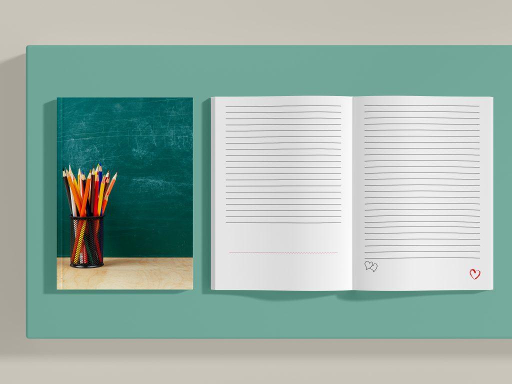 עיצוב אישי מתנה מחברת השראה
