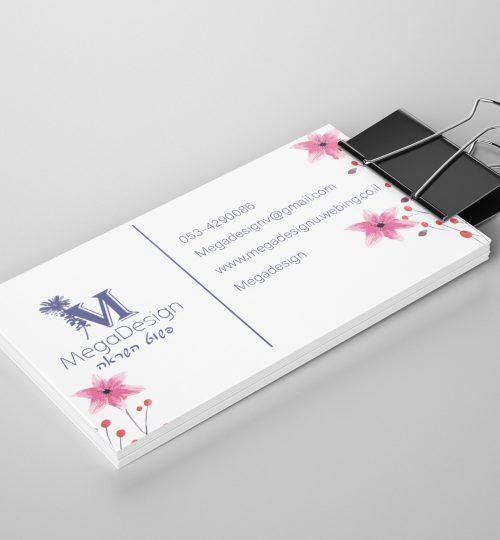 כרטיסי ביקור הדמייה מגה דזיין