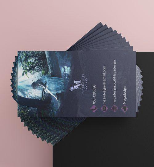כרטיס ביקור מגה דזיין עיצוב גרפי נתניה